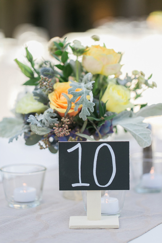 chalkboard table number @weddingchicks