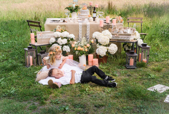 Peach Rustic Wedding Ideas From Love Polka Dots