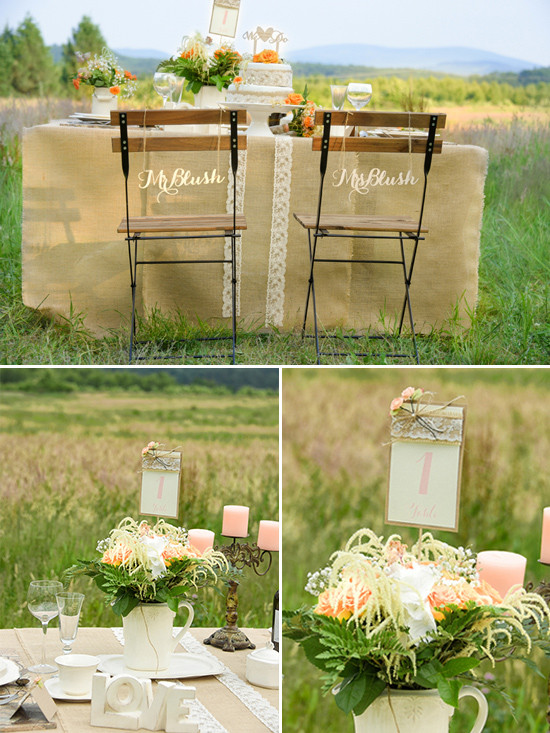 burlap and lace wedding ideas @weddingchicks