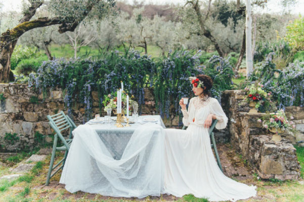 Heirloom Garden Wedding Ideas In Tuscany