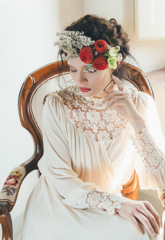 vintage wedding dress from 95metriquadri @weddingchicks