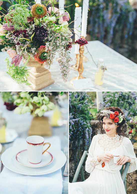 garden sweetheart table @weddingchicks