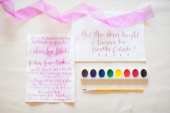water color and calligraphy @weddingchicks