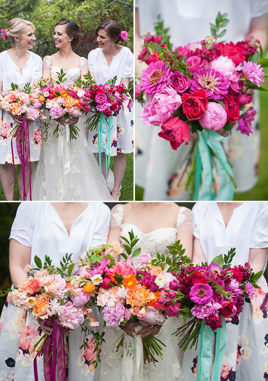 colorful bridal bouquets @weddingchicks