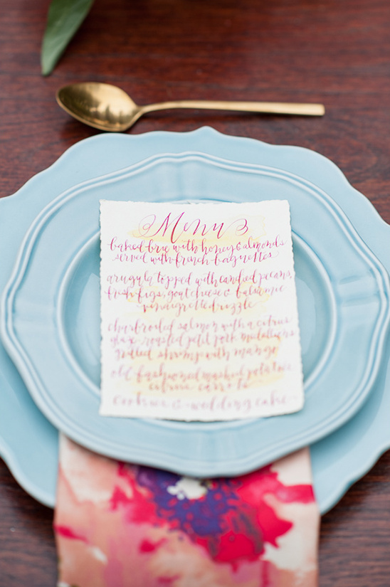 menu design ideas @weddingchicks