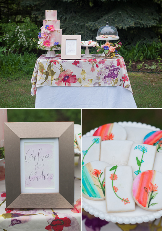 cakes and cookies dessert table ideas @weddingchicks