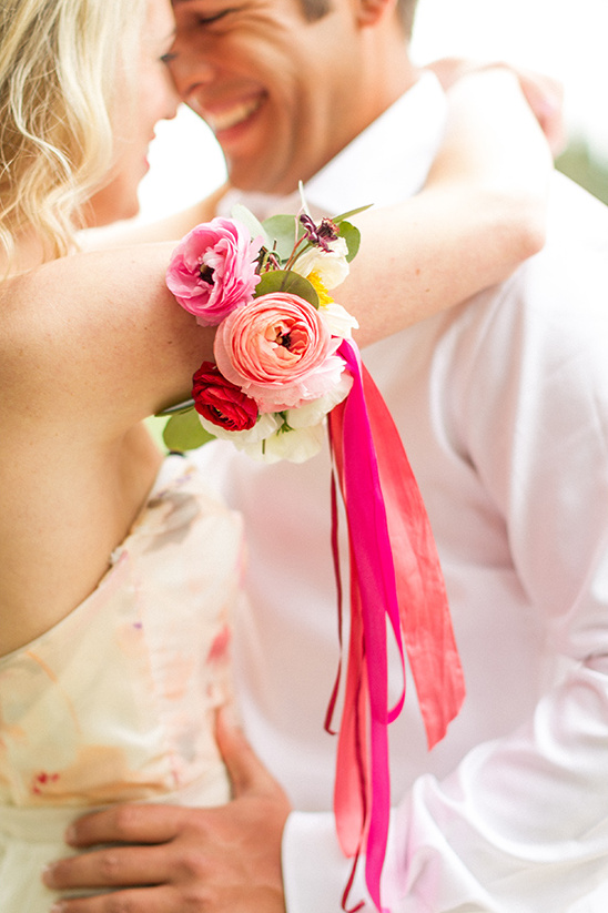 flower arm band idea @weddingchicks