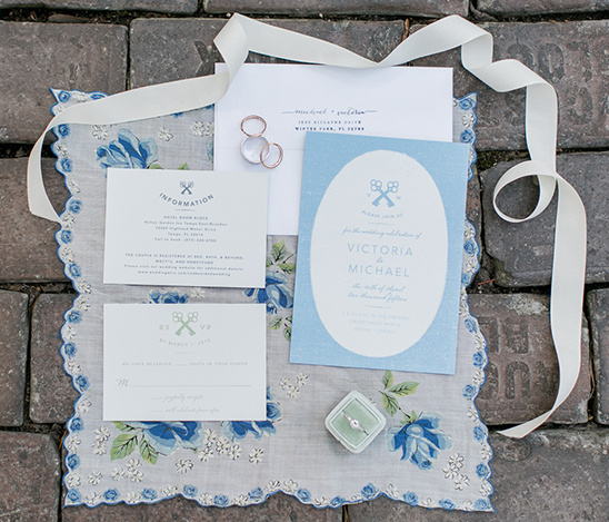 blue wedding invitation idea @weddingchicks