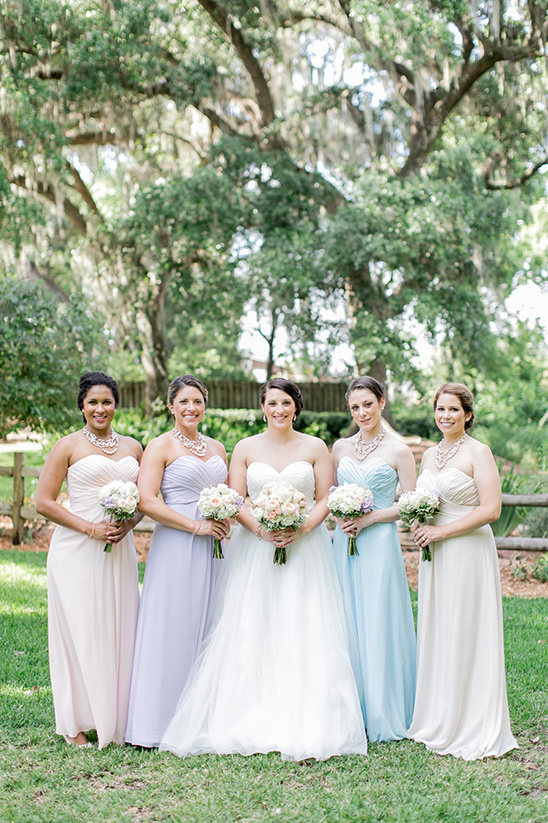 pastel bridesmaid dresses @weddingchicks