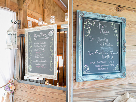 chalkboard menu ideas @weddingchicks