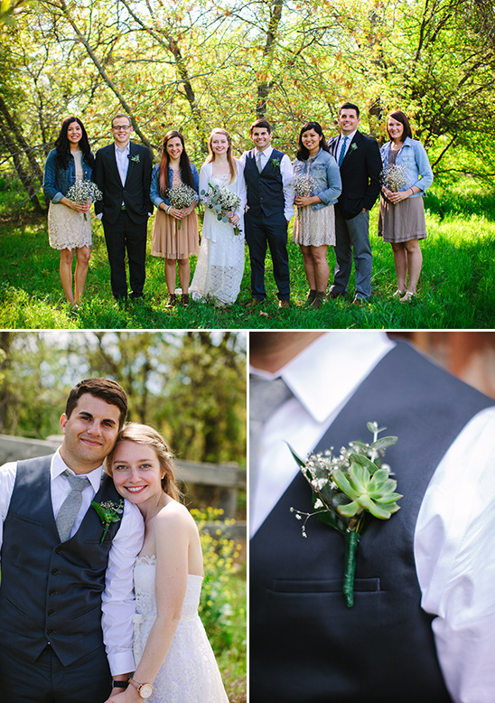 succulent boutonnieres @weddingchicks