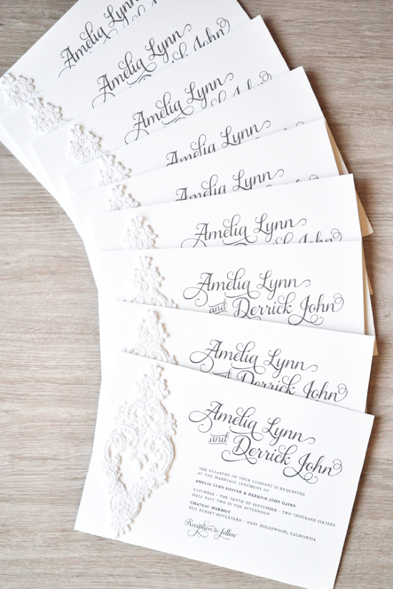 Elegant invites from Engaging Papers. @weddingchicks