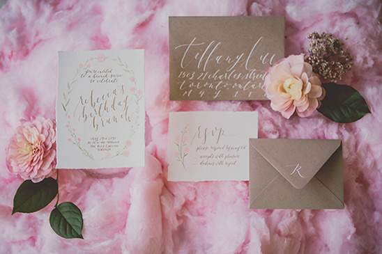 cream and pink wedding stationery @weddingchicks