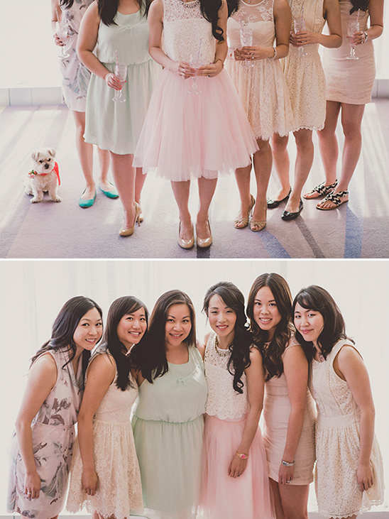 lovely ladies in pastel @weddingchicks
