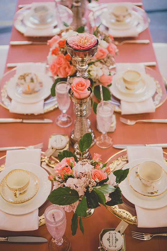 pretty pink rose reception idea @weddingchicks