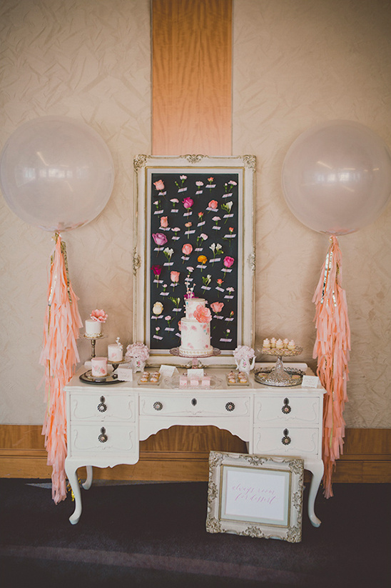 unique cake table decor ideas @weddingchicks