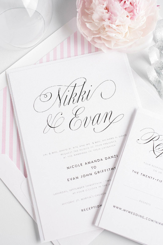 Elegant wedding invites from Shine Wedding Invitations @weddingchicks