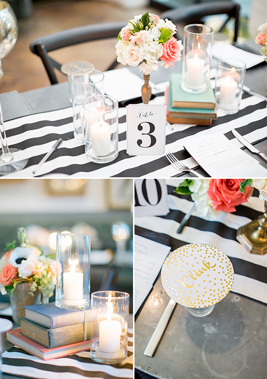 book and candle centerpieces @weddingchicks