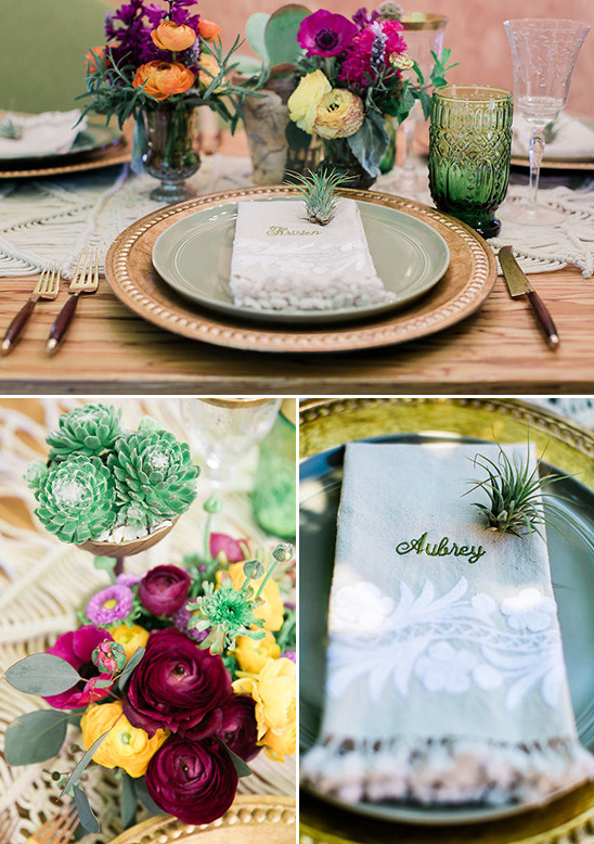 southwestern themed table decor @weddingchicks