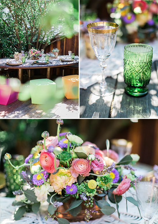 patio table decor @weddingchicks