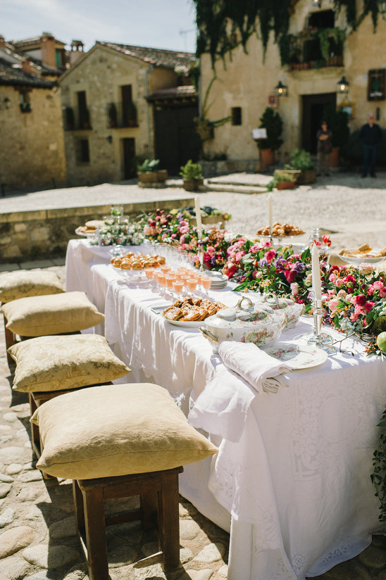 elegant spanish meal @weddingchicks