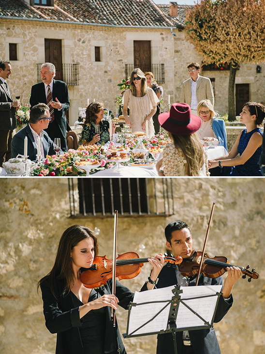 violin serenaded dinner @weddingchicks