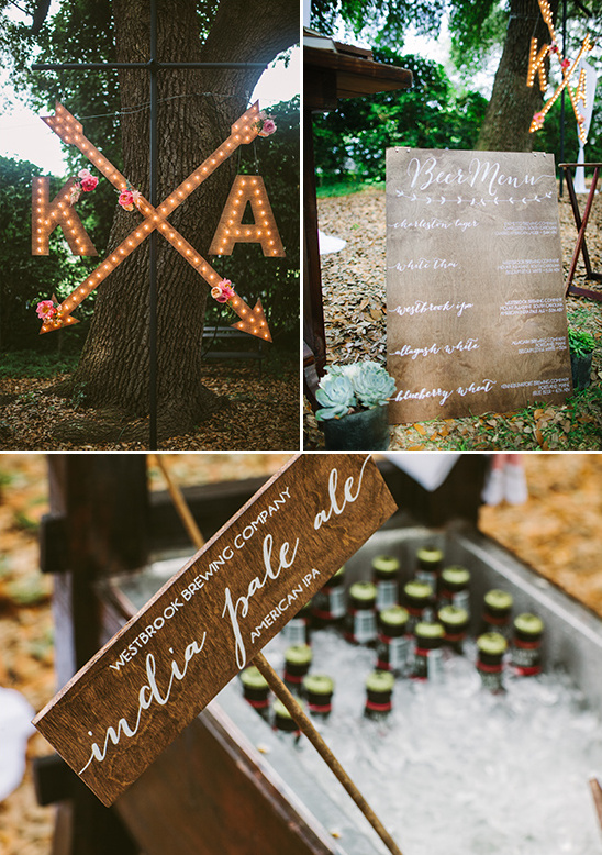 diy signs and marquee lights @weddingchicks