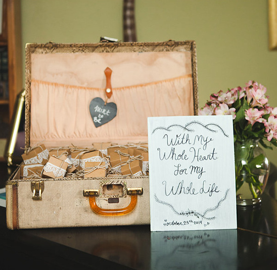 mint to be favors @weddingchicks