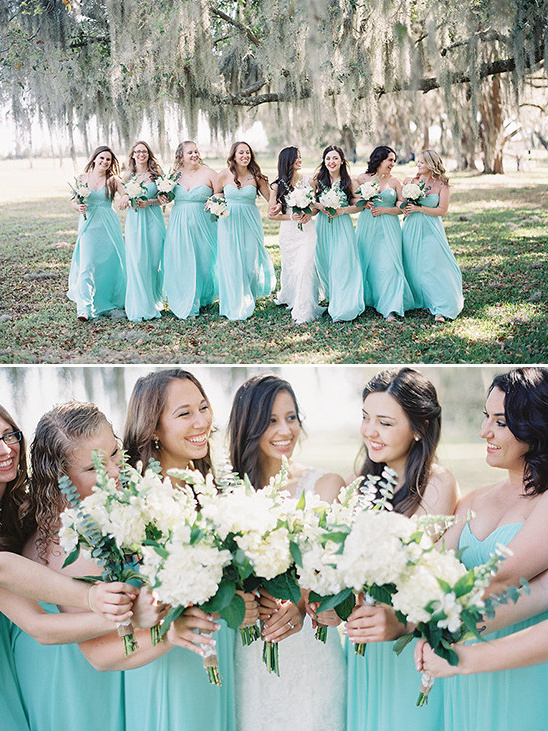 White and Teal Wedding in Florida