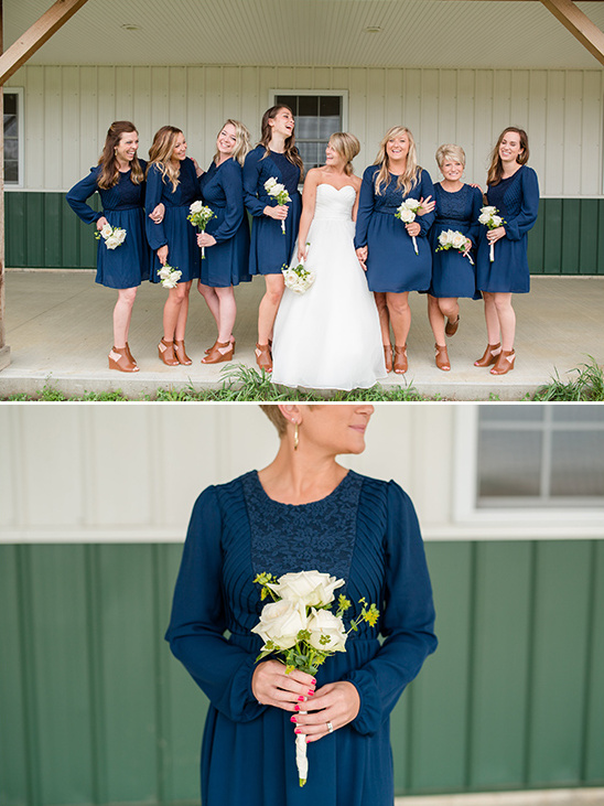 navy blue bridesmaid dresses @weddingchicks