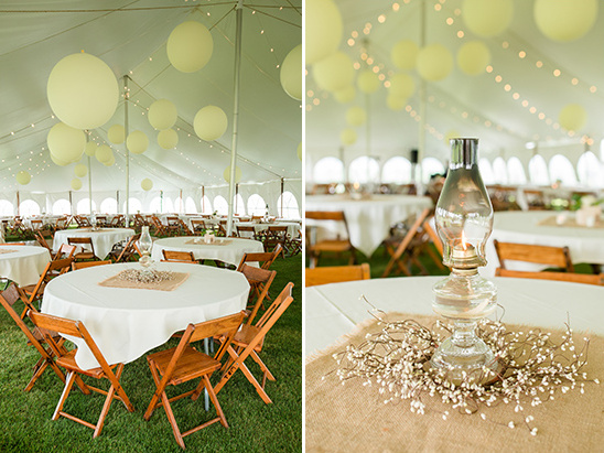 white tent wedding decor @weddingchicks