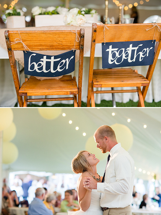 sweetheart chair signs @weddingchicks