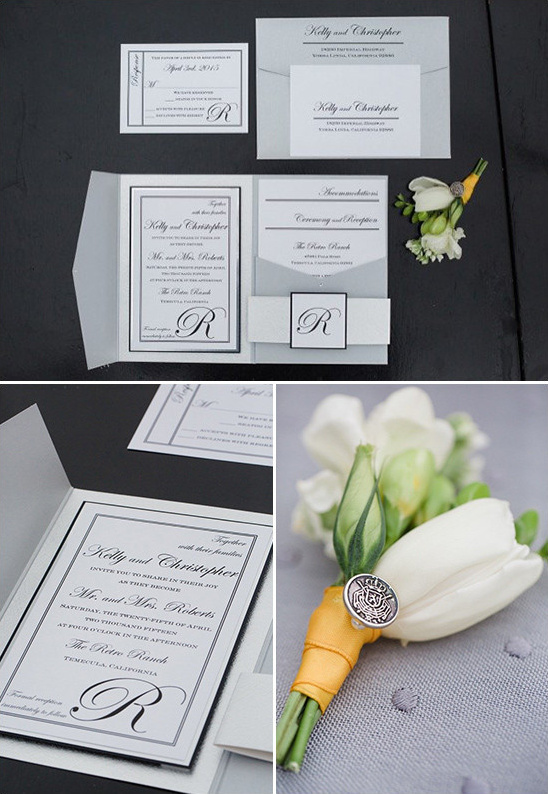 classic black and white invitations @weddingchicks