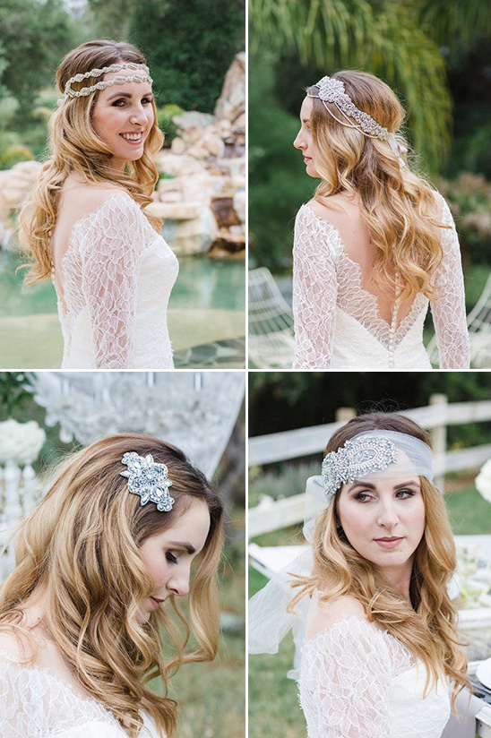 headpieces from What A Betty @weddingchicks