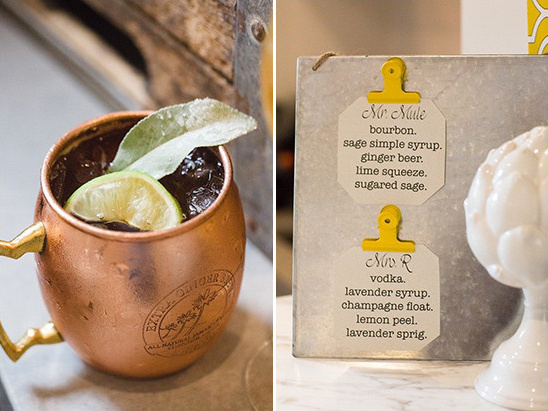 moscow mule signature drink @weddingchicks