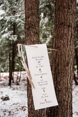 Magic In The Woods Wedding