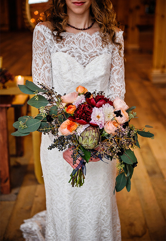 winter bouquet @weddingchicks