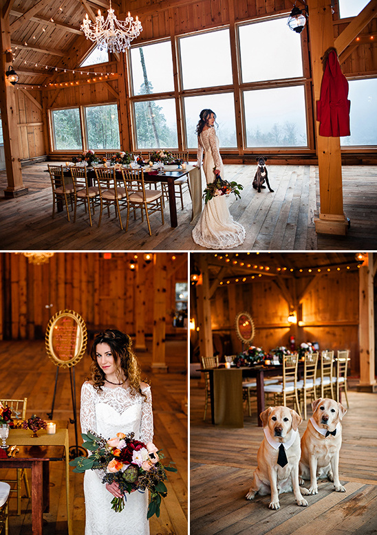 fairytale bride and cute dogs @weddingchicks