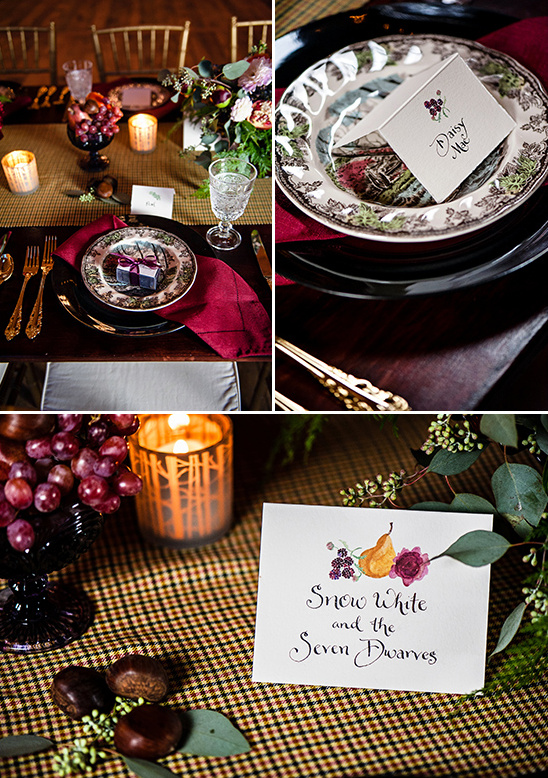 dark and romantic table settings @weddingchicks
