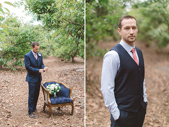 coral and navy grooms attire @weddingchicks