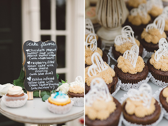 cupcake menu @weddingchicks