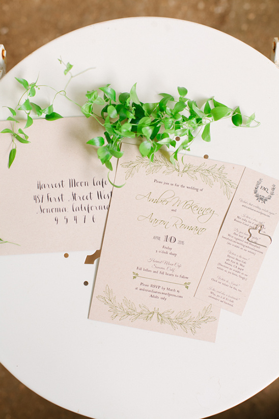 sweet and natural wedding invites @weddingchicks
