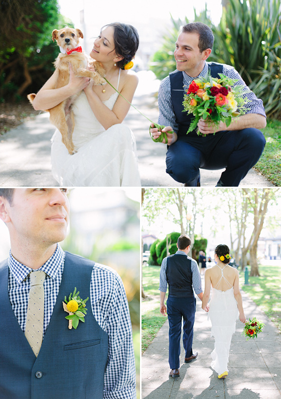blue gingham grooms attire @weddingchicks