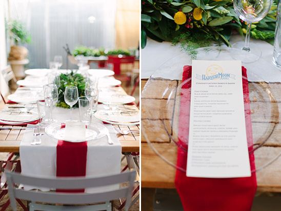 harvest moon wedding menu @weddingchicks