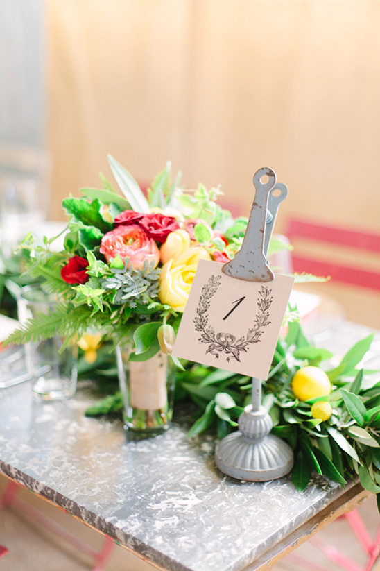 vintage table number idea @weddingchicks