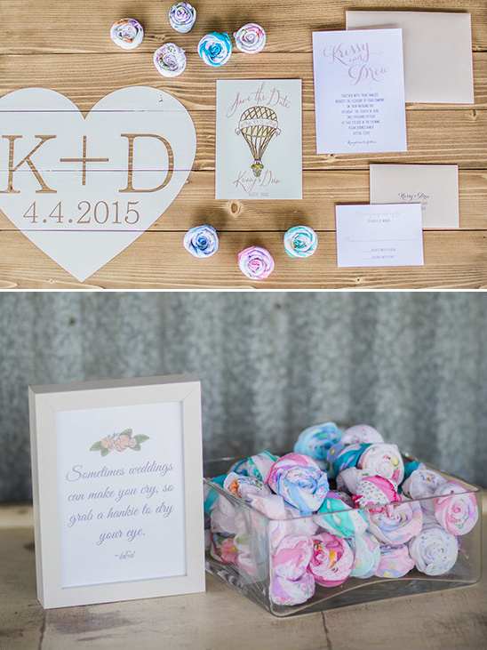 wedding paper and handkerchiefs @weddingchicks