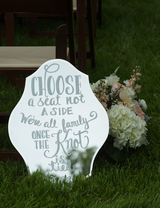 wedding sign mirror @weddingchicks