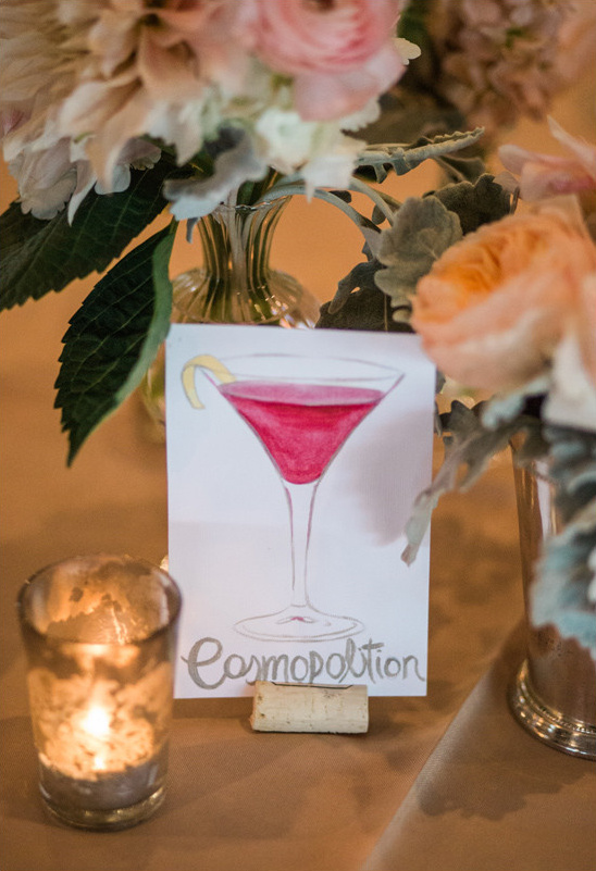 cosmopolitan table name @weddingchicks