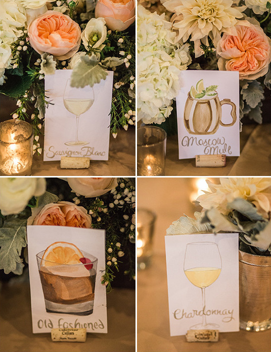 cocktail table names @weddingchicks