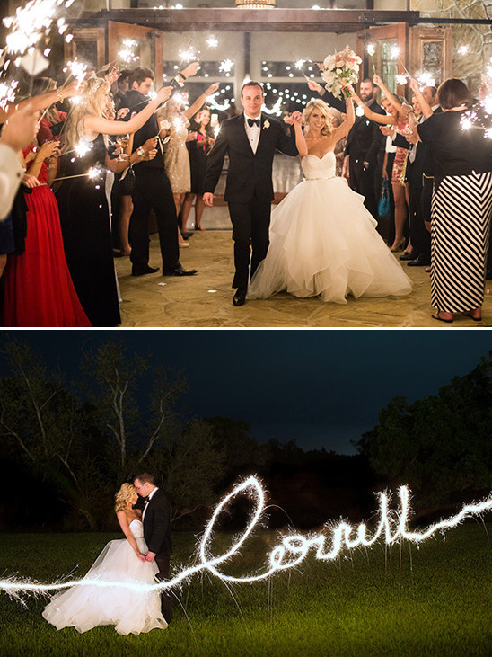 sparkler exit @weddingchicks
